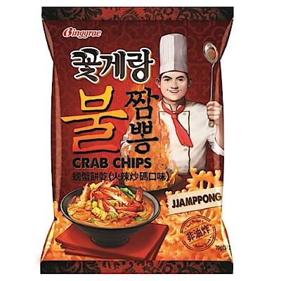 韓味不二 Binggrae螃蟹餅乾-火辣炒碼(70g)