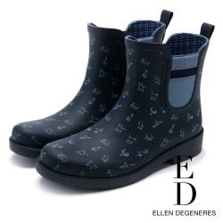 Ellen DeGeneres 俏皮防水橡膠中筒雨靴