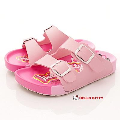 HelloKitty童鞋 餅乾造型雙絆涼鞋款 EI18126粉(中大童段)