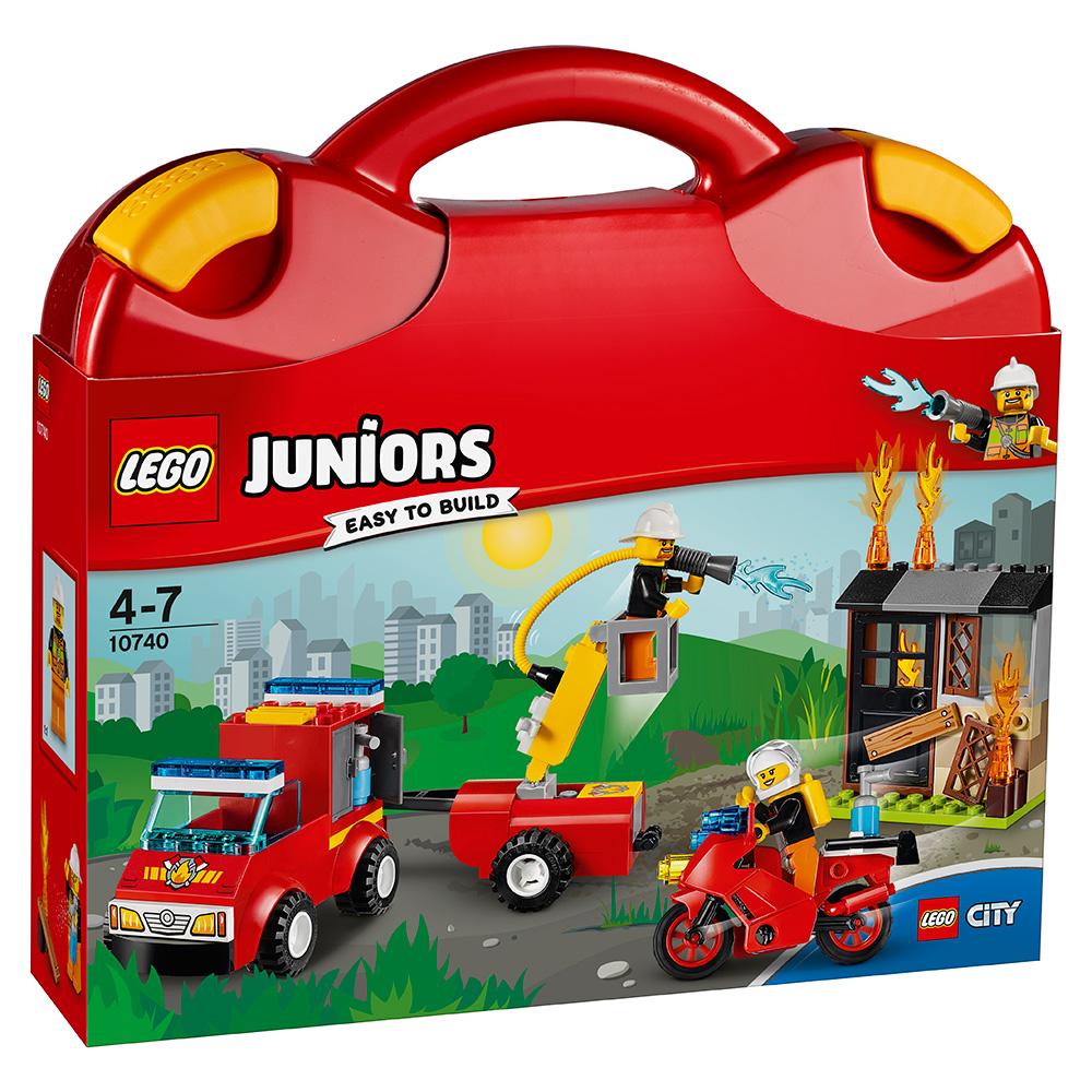LEGO樂高Juniors系列10740火警巡邏手提箱4Y