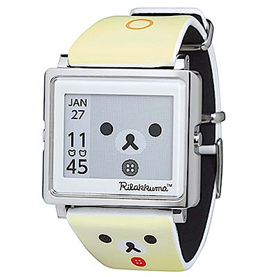 Smart Canvas 搖滾小白熊  電子紙腕錶