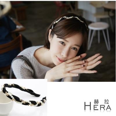 Hera赫拉 珍珠水鑽繞布頭箍/髮箍