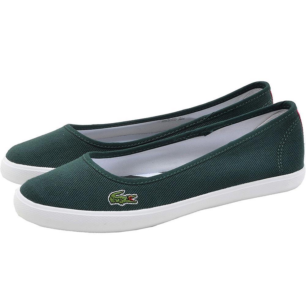 Lacoste MARTHE 女用休閒帆布娃娃鞋-綠色