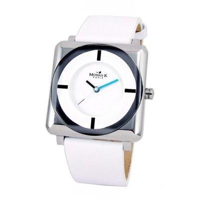 MORRIS K 時尚SHOW潮流情深錶款-白