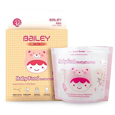 韓國BAILEY貝睿 副食品儲存袋 190ml 30入