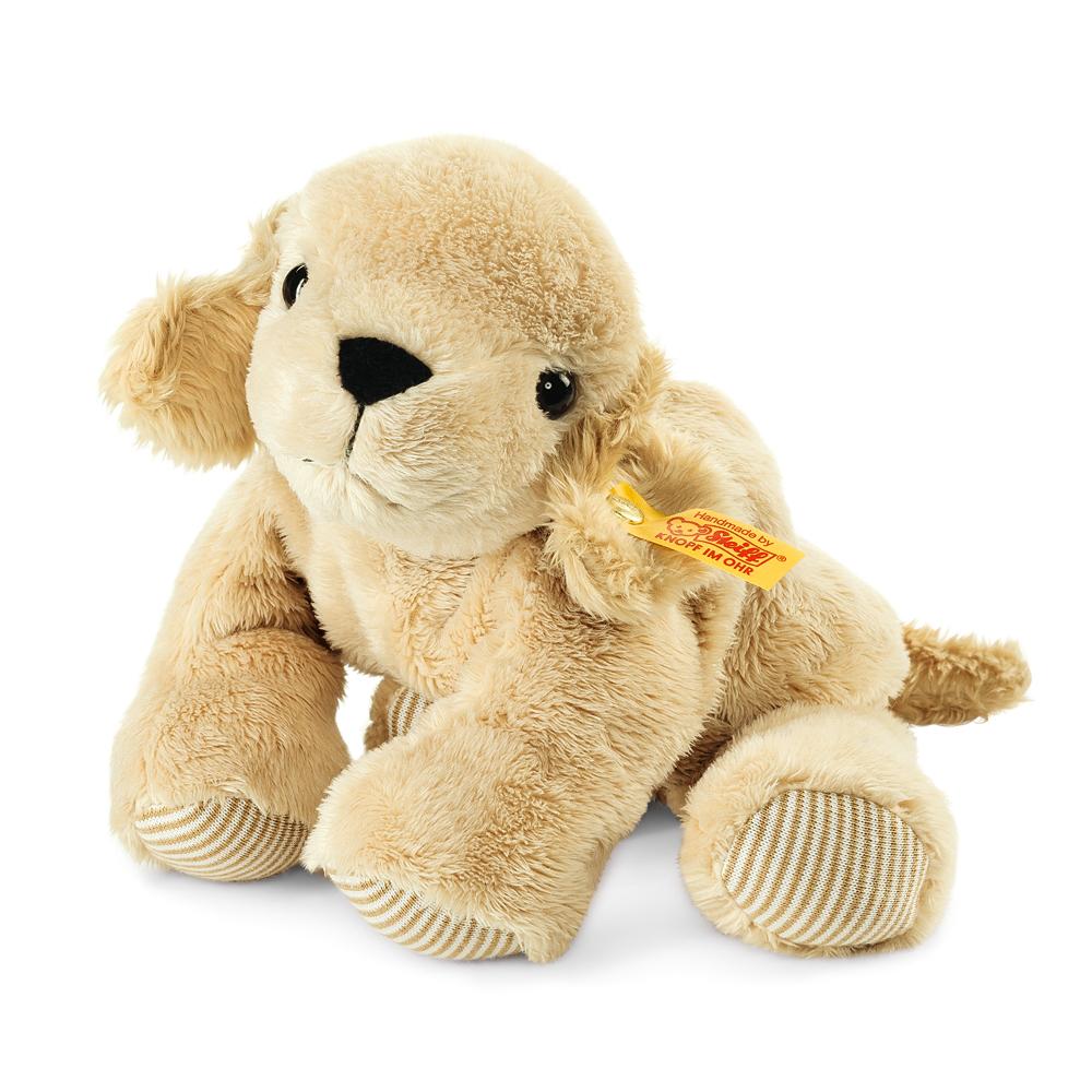 STEIFF德國金耳釦泰迪熊-Floppy Lumpi Golden 小狗 (趴趴系列)