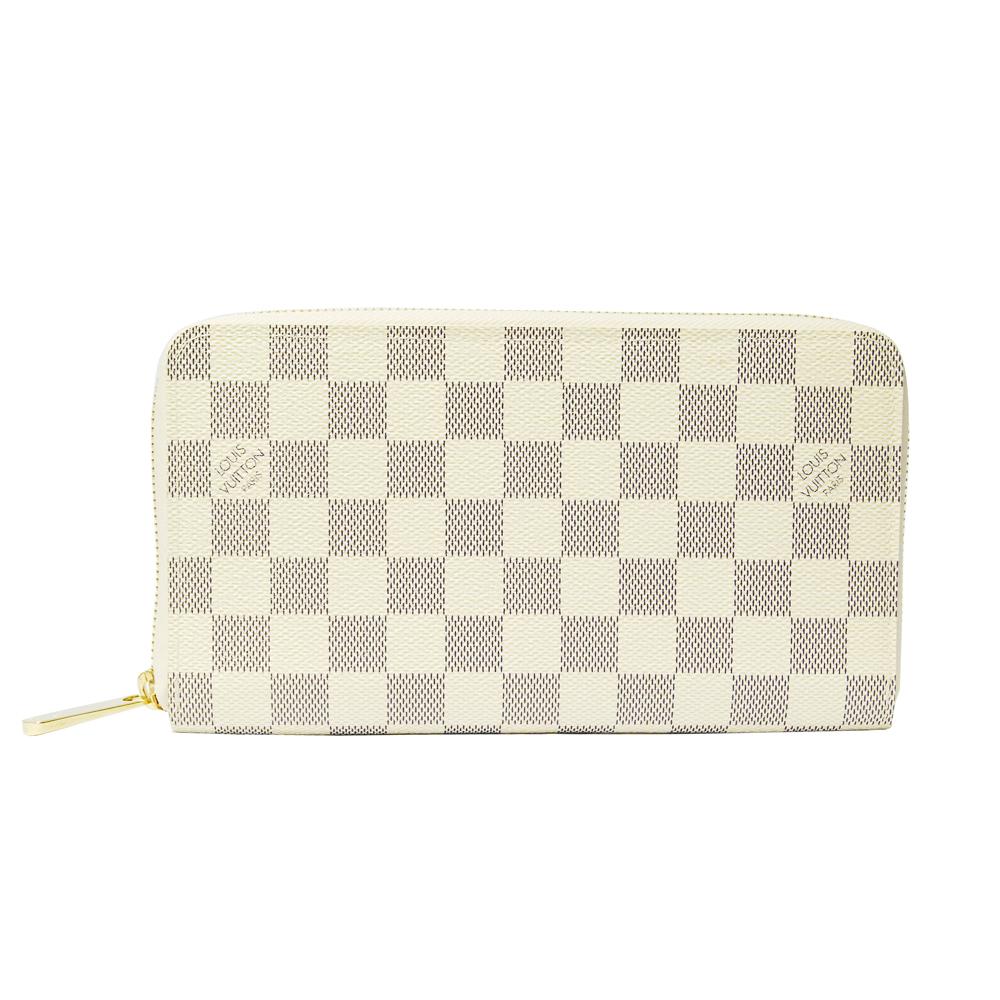 LV【N60012】Zippy Organizer 白色棋盤格皮夾
