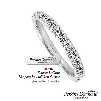 PERKINS 伯金仕 線戒 - Classic系列 0.38克拉鑽石戒指