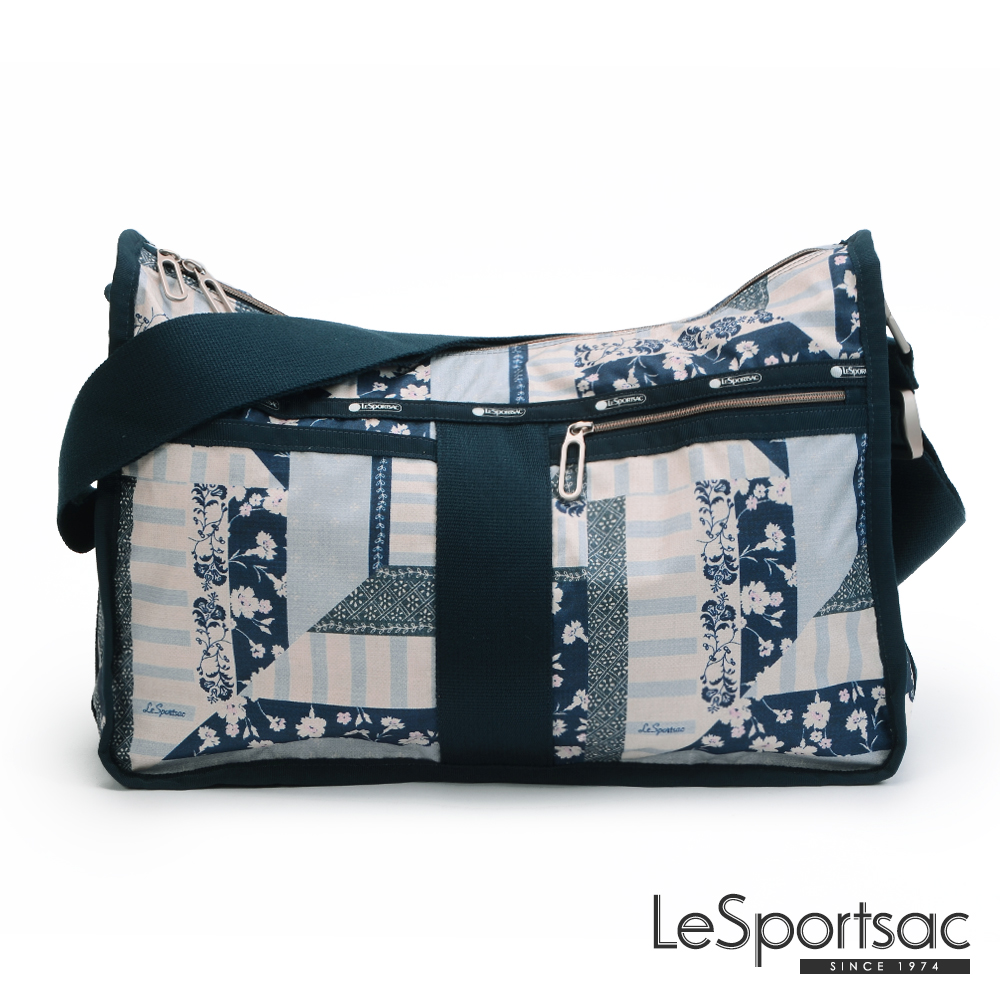 LeSportsac - Essential雙口袋A4斜背大書包(拼接時尚)