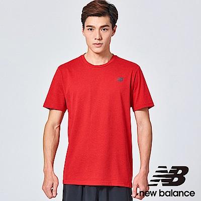 NB DRY花紗短袖上衣 AMT73080REP 男性 紅色