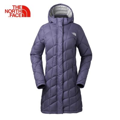 The North Face北面女款藍色長版羽絨服外套