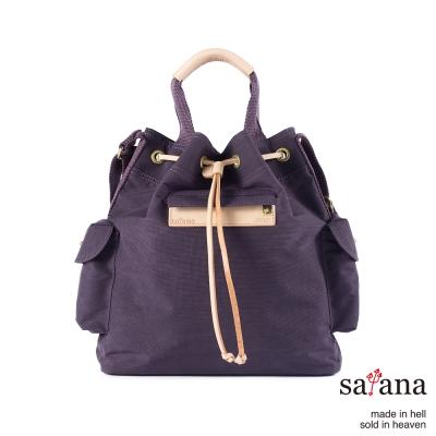 satana - 小抽繩水桶包 - 紫色