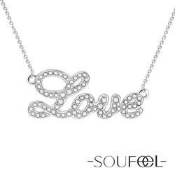 SOUFEEL索菲爾 925純銀項鍊 LOVE