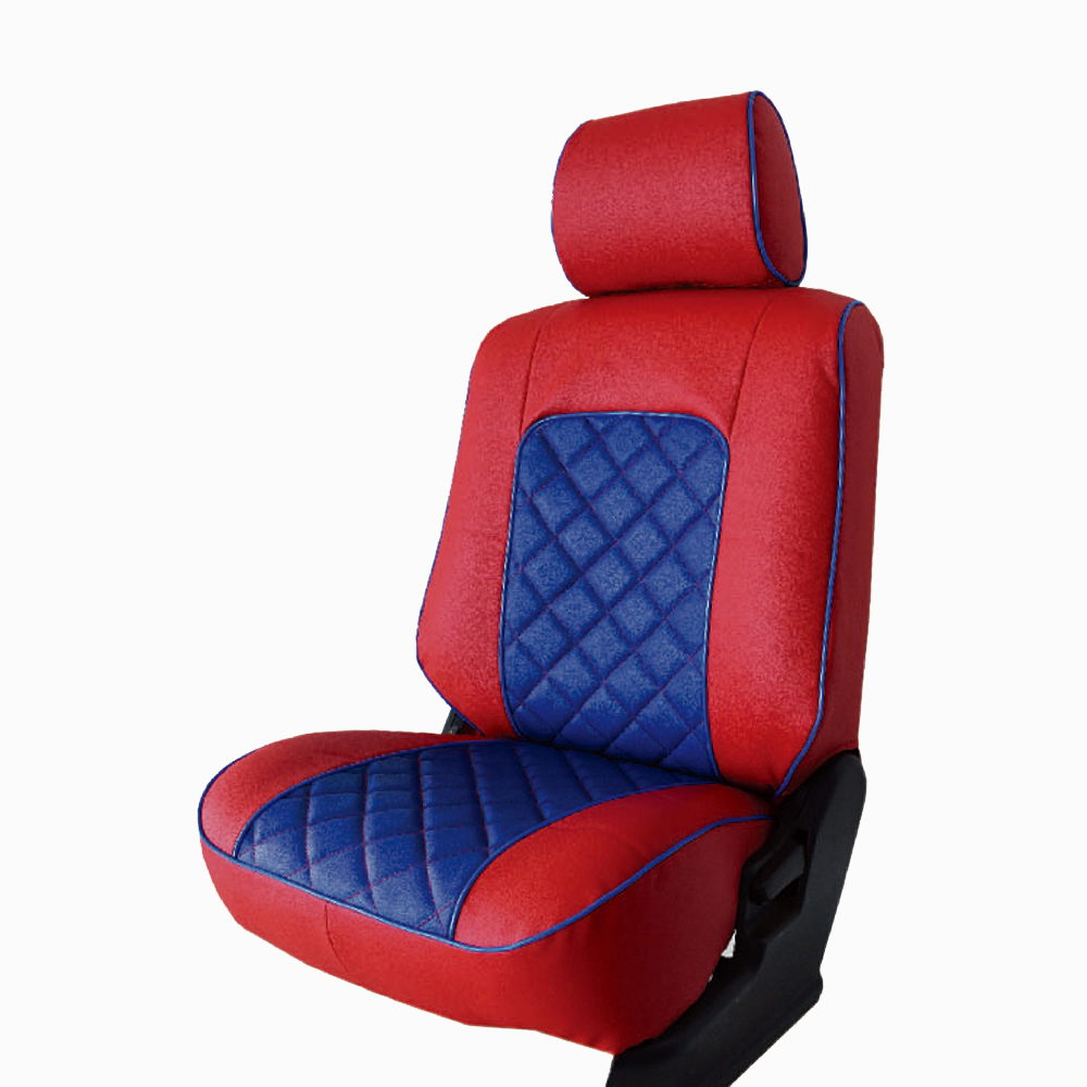 【葵花】量身訂做-汽車椅套-日式合成皮-格子配色C款-休旅車-6-8人座款1+2+3排