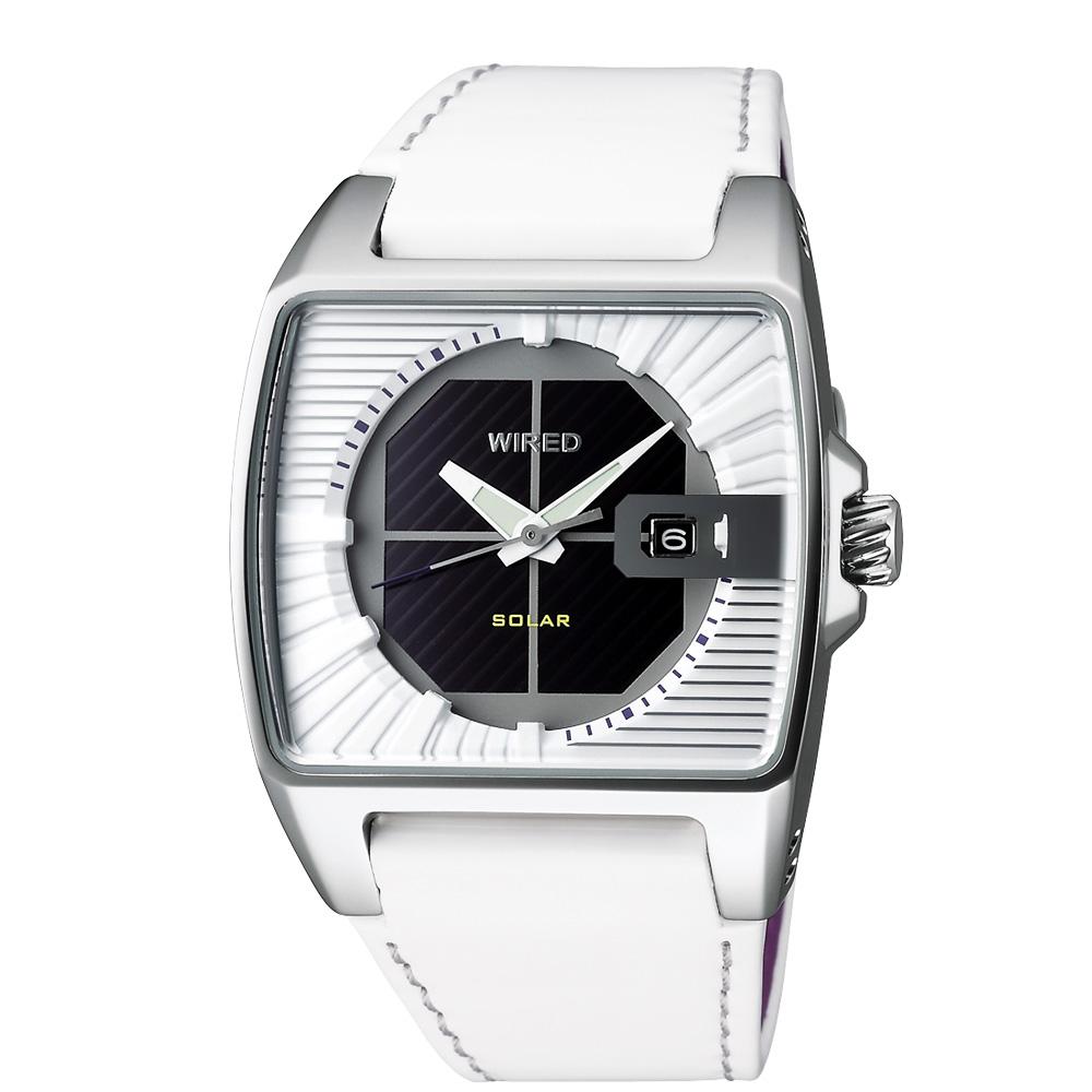 WIRED HYBRID 太陽能時尚腕錶-白