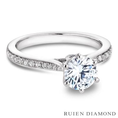 RUIEN DIAMOND GIA50分 D VVS2 3EX鑽石戒指 璀璨