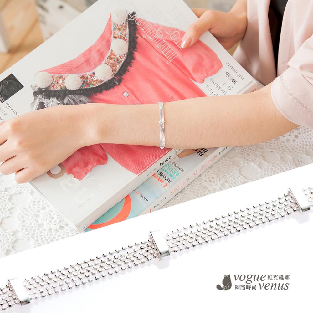 維克維娜 氣質時尚 多鍊寬版純銀手鍊