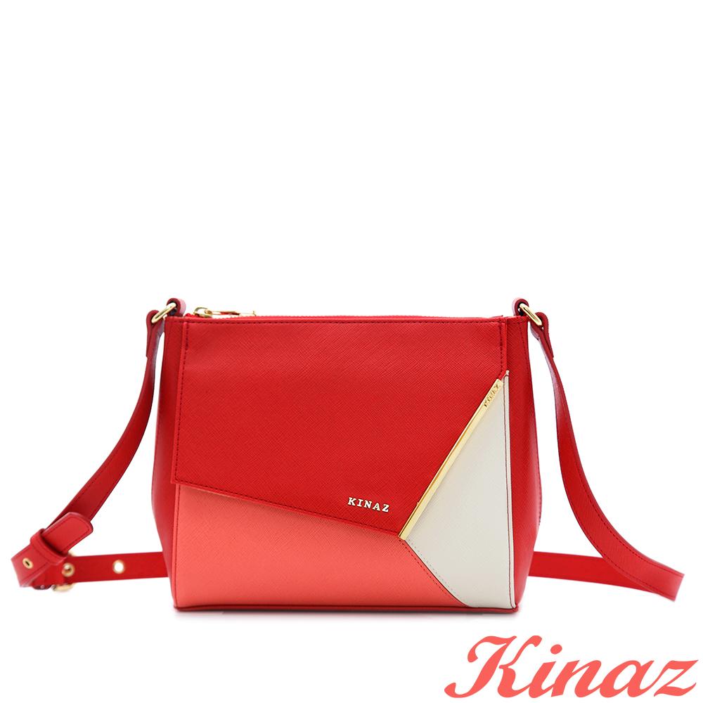 KINAZ 蜥蜴~奇妙旅程斜背包-亮麗紅
