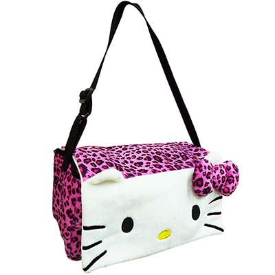 Hello Kitty 豹紋系列 多功能面紙盒掛袋