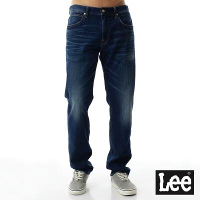 Lee 牛仔褲 735 Regional中腰舒適刷白小直筒-男款-藍