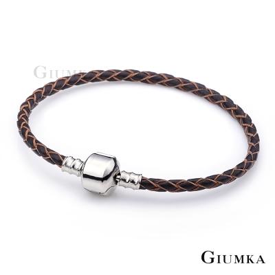 GIUMKA手環手鏈-野之藤編織皮革手鍊-咖啡