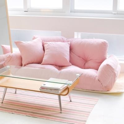 Home Feeling 5段式雙人激厚款扶手沙發床/和室椅(3色可選)