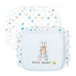 奇哥 花園比得兔乳膠圓型枕-藍色 (附枕套)