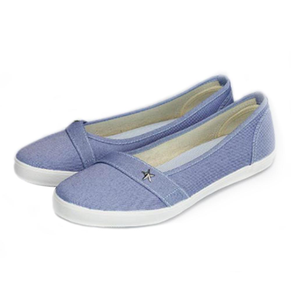 FUFA MIT 星型鉚釘氣質懶人鞋(H74)-牛仔藍