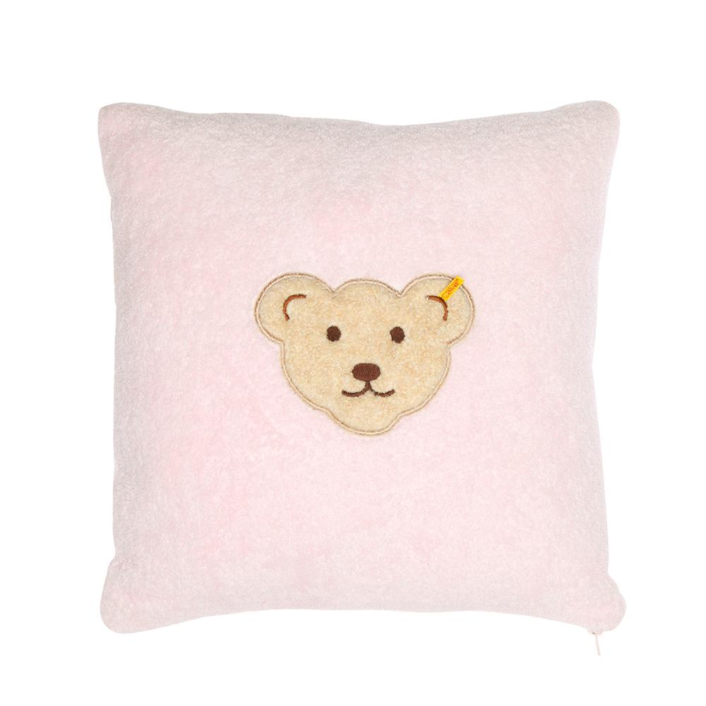 STEIFF德國金耳釦泰迪熊 - 嬰幼兒 枕頭 靠枕 粉紅色 40x40cm