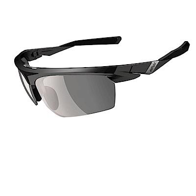 【ADHOC】運動太陽眼鏡-極速變色灰片-半框式 BLADE