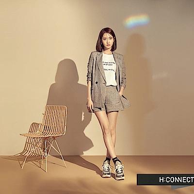 H:CONNECT 韓國品牌 女裝 - 純色圓領印字背心-白