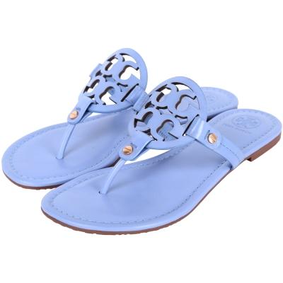 TORY BURCH Miller 品牌LOGO夾腳拖鞋(藍色)