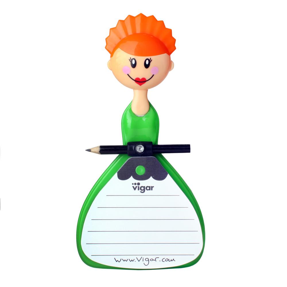 Vigar貼心娃娃便利貼-橘髮