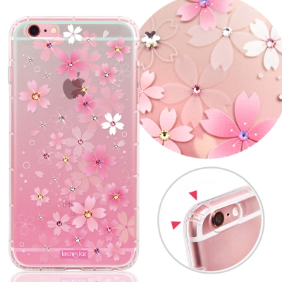 KnowStar APPLE iPhone6/6s 奧地利水晶彩繪防摔手機鑽殼-櫻花町