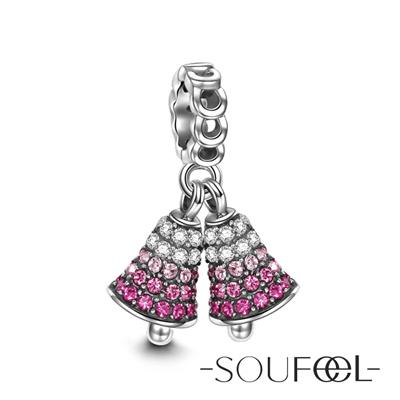 SOUFEEL索菲爾 925純銀珠飾 聖誕鈴鐺 吊飾