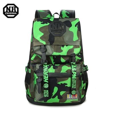 BAC02 GY綠色 NR14吋韓版個性迷彩休閒電腦後背包