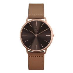 ZOOM THIN 極簡超薄腕錶-深棕  /42mm