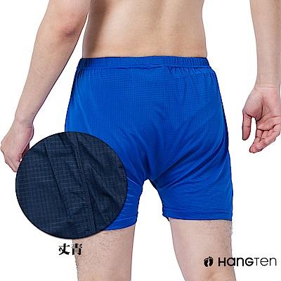 HANG TEN 冰絲格紋平口褲_丈青(HT-C12008)