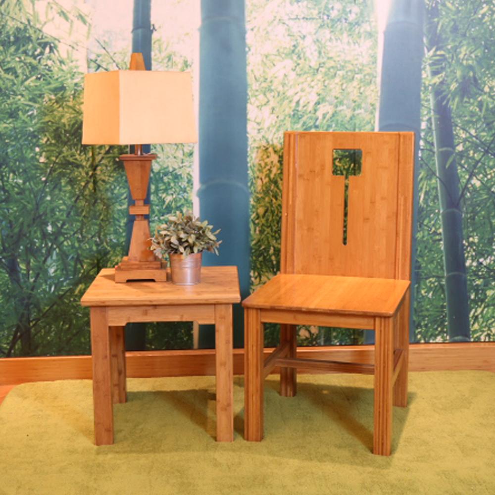 時尚屋竹製太觀氣派四方竹椅47x50x95cm