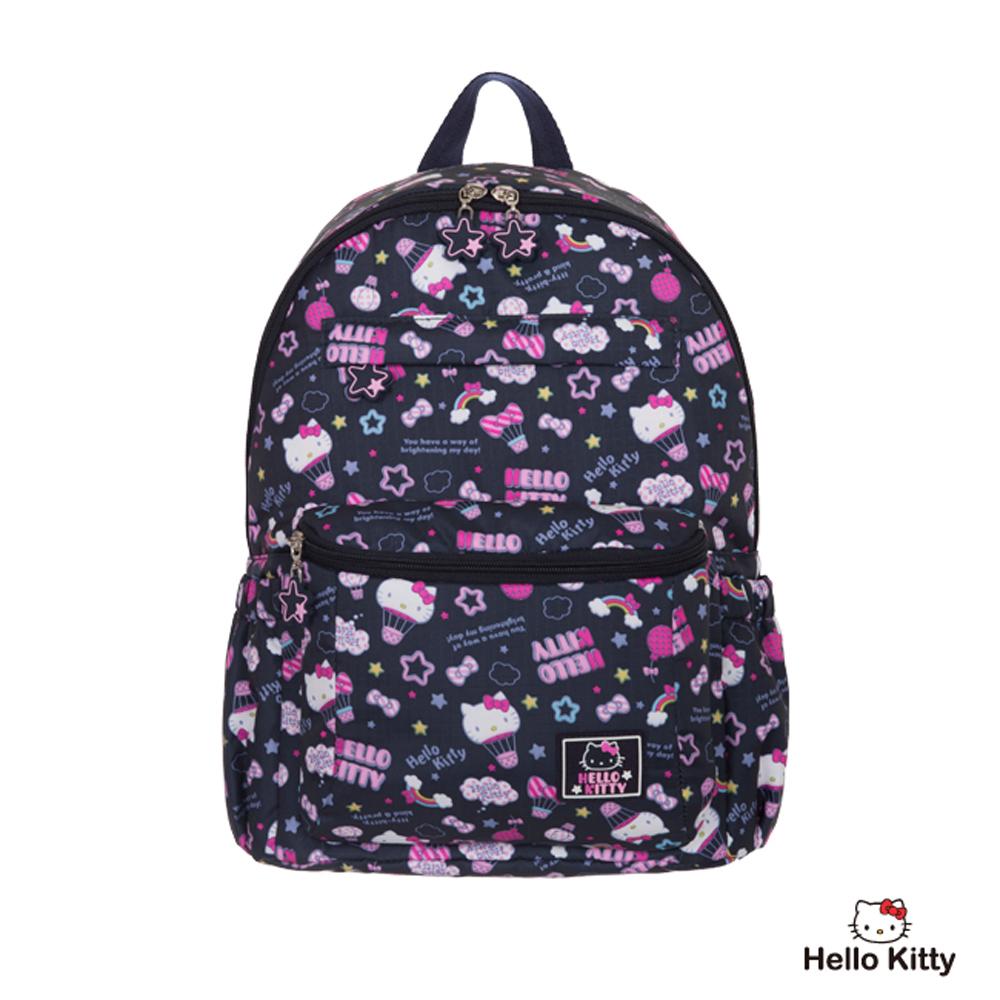 Hello Kitty-悠遊星空系列- 後背包-中-深藍色-KT01Q04NY