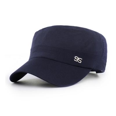 活力揚邑 防曬涼感速乾吸濕排汗潮流軍帽平頂帽-藍色