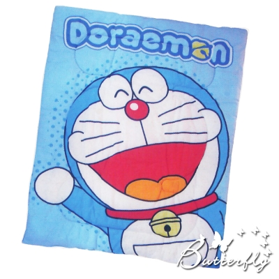 Doraemon哆啦A夢 搖粒絨 刷毛暖暖被 毯被 正版授權 歡樂無限-藍