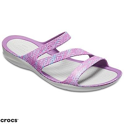Crocs 卡駱馳 (女鞋) 激浪花紋涼鞋 204461-55O