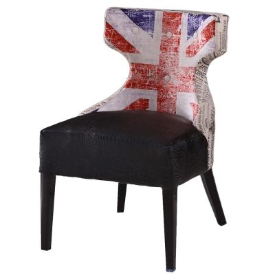 AT HOME-英國報紙布面皮餐椅