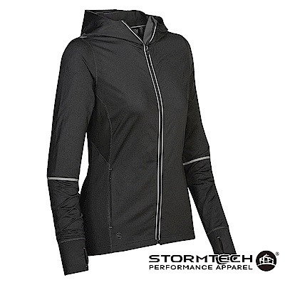 【加拿大STORMTECH】SNJ-1W獨家H2XDRY吸排透氣恆溫連帽外套-女-黑