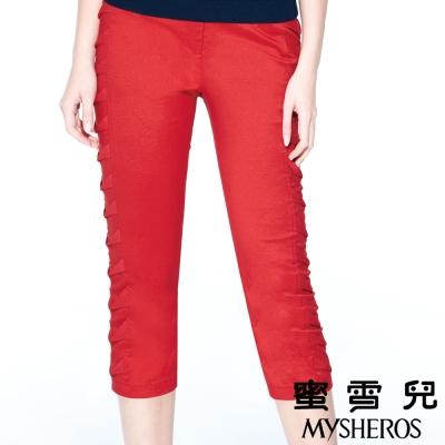 蜜雪兒mysheros-皺褶造型鬆緊七分褲