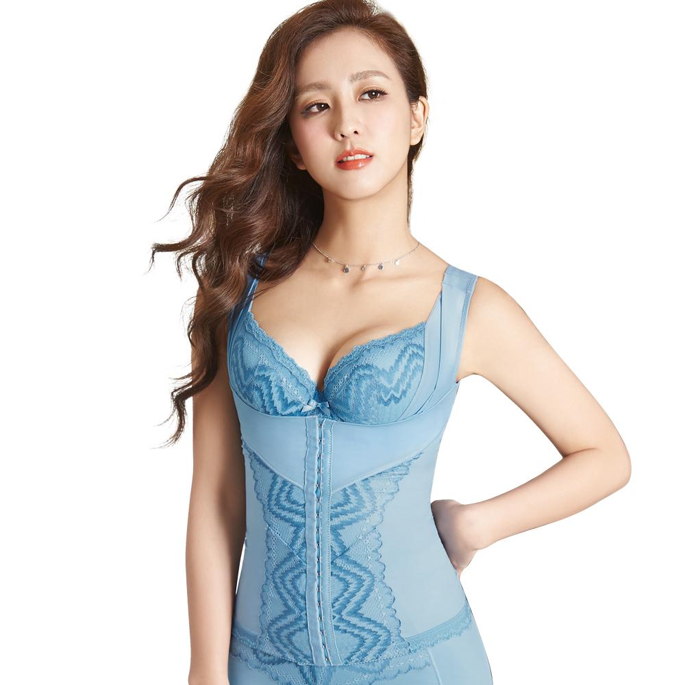 思薇爾 挺享塑系列S-XXL中機能半身塑身衣(北極藍)