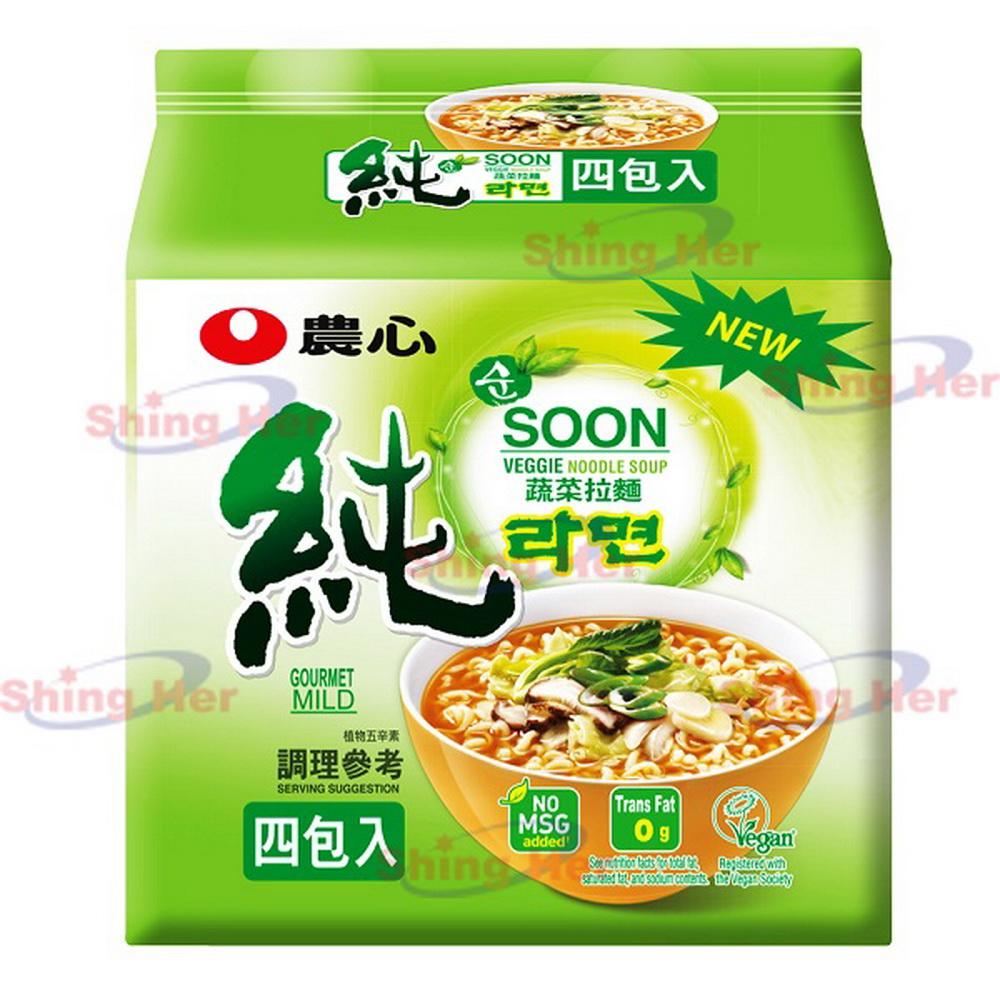 農心 蔬菜拉麵(112gx4包)