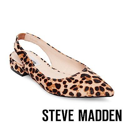 STEVE MADDEN-ENVI-L 馬毛尖頭低跟涼鞋-豹紋