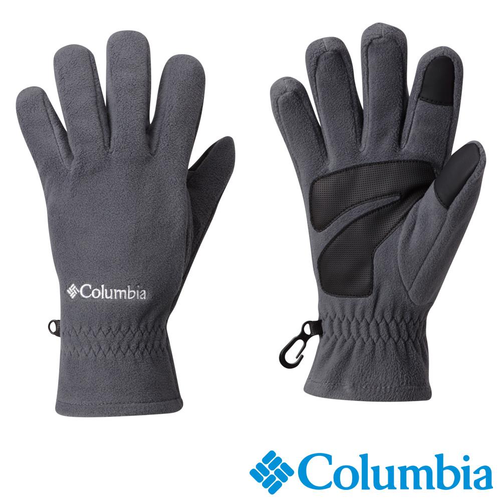 Columbia哥倫比亞 男款-保暖刷毛手套-灰色 USM91080GY